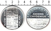 Изображение Монеты Финляндия 10 евро 2003 Серебро Proof- Андерс Чидениус