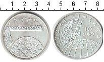 Изображение Монеты Финляндия 10 евро 2002 Серебро Proof-