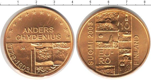 Картинка Монеты Финляндия 10 евро Серебро 2003
