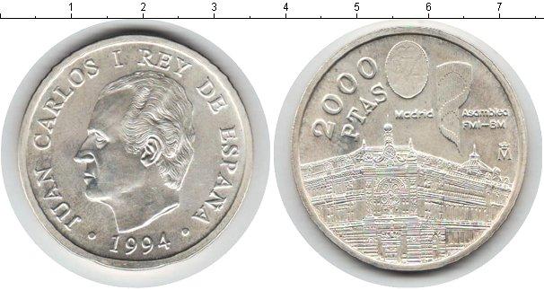 Картинка Монеты Испания 2.000 песет Серебро 1994