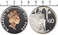 Изображение Монеты Фиджи 10 долларов 2002 Серебро Proof Защитим нашу веру