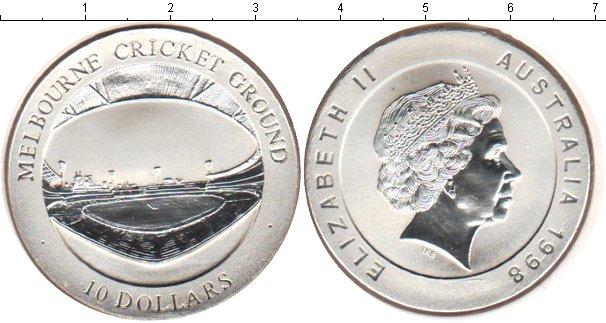 Картинка Монеты Австралия 10 долларов Серебро 1998
