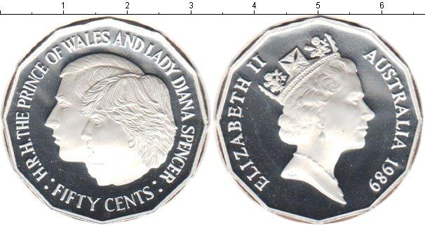 Картинка Монеты Австралия 50 центов Серебро 1989