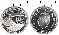 Изображение Мелочь Испания 10 евро 2004 Серебро Proof