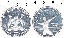 Изображение Монеты Уганда 1000 шиллингов 1999 Серебро Proof- Олимпиада в Сиднее 2