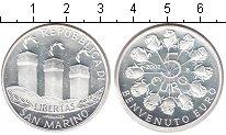 Изображение Монеты Сан-Марино 5 евро 2002 Серебро Proof Введение евро