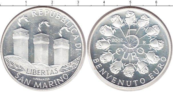 Картинка Монеты Сан-Марино 5 евро Серебро 2002