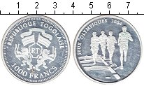 Изображение Монеты Того 1000 франков 2004 Серебро Proof Олимпиада 2004 в Афи