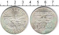 Изображение Монеты Австрия 100 шиллингов 1978 Серебро UNC- 1100-ая Годовщина -