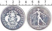 Изображение Монеты Сейшелы 25 рупий 1993 Серебро Proof- Олимпиада 1992.