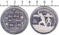 Изображение Монеты Непал 500 рупий 1994 Серебро Proof- Олимпиада 1994.