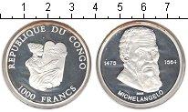 Изображение Монеты Конго 1000 франков 2005 Серебро Proof- Микеланджело.