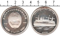 Изображение Монеты Северная Корея 5 вон 2000 Серебро Proof- Судно Mountbatten SR