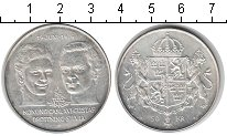 Изображение Монеты Швеция 50 крон 1976 Серебро UNC- Король Карл и короле