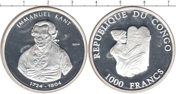 Картинка Монеты Конго 1.000 франков Серебро 2004