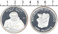 Изображение Монеты Конго 1000 франков 2004 Серебро Proof- Конрад Дуден.