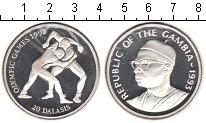 Изображение Монеты Гамбия 20 даласи 1993 Серебро Proof- Олимпийские игры 199