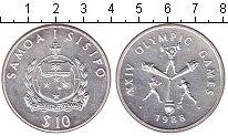 Изображение Монеты Самоа 10 долларов 1988 Серебро UNC- Олимпиада 1988 в Сеу