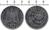 Изображение Мелочь Германия 10 марок 1999 Серебро Proof-