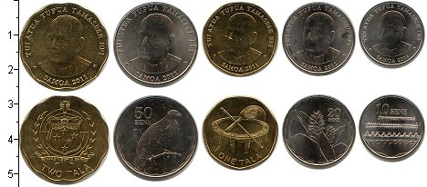 Изображение Наборы монет Самоа Самоа 2011 2011  UNC В наборе 5 монет ном