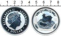 Изображение Монеты Австралия 1 доллар 2003 Серебро UNC- Год козы