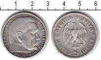 Изображение Мелочь Третий Рейх 5 марок 1936 Серебро XF F.Пауль фон Ги