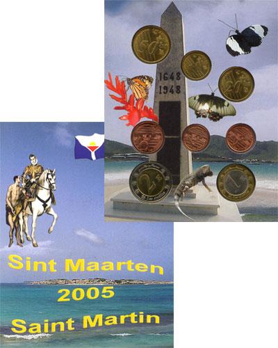 Изображение Подарочные монеты Франция Набор монет Евро-модель 2005  UNC
