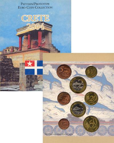 Изображение Подарочные монеты Греция Набор монет Евро-модель 2004  UNC 8 моделей евро-монет