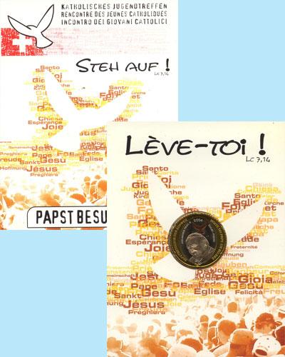Изображение Подарочные монеты Ватикан 5 европ 2004  UNC В наборе 1 монета 5