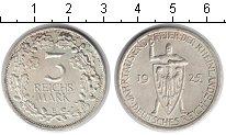 Изображение Монеты Веймарская республика 3 марки 1925 Серебро XF 1000-летие Рейнланда