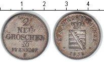 Изображение Монеты Германия Саксония 2 гроша 1856 Серебро XF