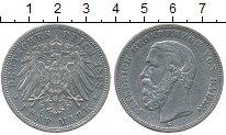 Изображение Монеты Германия Баден 5 марок 1898 Серебро XF