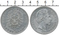 Изображение Монеты Бавария 5 марок 1875 Серебро VF Людвиг II