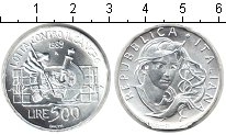 Изображение Монеты Италия 500 лир 1989 Серебро UNC- наука