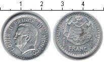 Изображение Монеты Монако 1 франк 1943 Алюминий XF Луи II