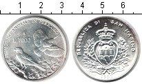 Изображение Монеты Сан-Марино 1000 лир 1993 Серебро Proof-
