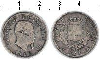 Изображение Монеты Италия 1 лира 1863 Серебро  Витторио Имануил II.