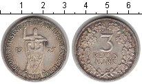 Изображение Монеты Веймарская республика 3 марки 1925 Серебро  1000-летие Рейнской