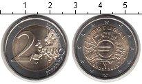 Изображение Мелочь Португалия 2 евро 2012 Биметалл UNC- 10 лет наличному обр
