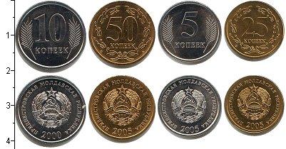 Изображение Наборы монет Приднестровье Приднестровье 2005 2005  UNC- В наборе 4 монеты но