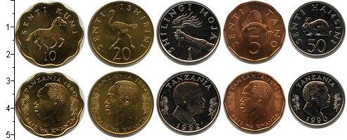 Изображение Наборы монет Танзания Танзания 1975-1992 0  UNC В наборе 5 монет ном