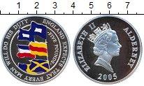 Изображение Монеты Олдерни 5 фунтов 2005 Серебро Proof- Елизавета II.