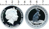 Изображение Монеты Австралия 10 долларов 2003 Серебро Proof- Елизавета II. Порт Ф
