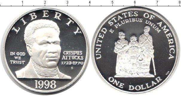 Картинка Мелочь США 1 доллар Серебро 1998