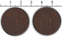 Изображение Монеты Швеция 5 эре 1902 Медь XF Оскар II