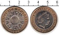 Изображение Мелочь Остров Джерси 2 фунта 1998 Биметалл XF Елизавета II.К