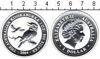 Изображение Монеты Австралия 1 доллар 2004 Серебро Proof- Австралийская кукаба