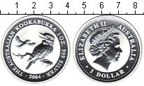 Изображение Монеты Австралия 1 доллар 2004 Серебро Proof-