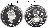 Изображение Монеты Гернси 5 фунтов 1995 Серебро Proof-