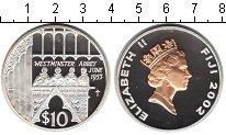 Изображение Монеты Фиджи 10 долларов 2002 Серебро Proof- Елизавета II.